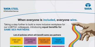 Tata Steel expands its Diversity & Inclusion policy